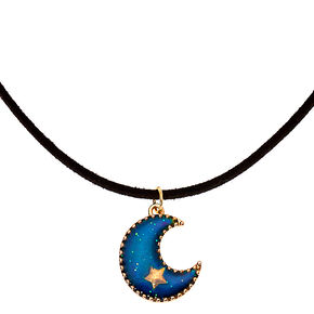 Crescent Moon Mood Pendant Necklace,