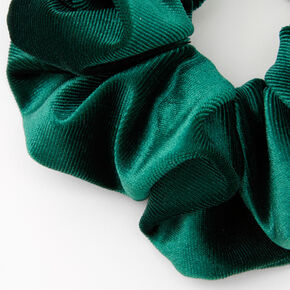Medium Flat Velvet Hair Scrunchie - Emerald,