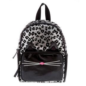 ff51c789bca04a Sequin Leopard Mini Backpack - Black