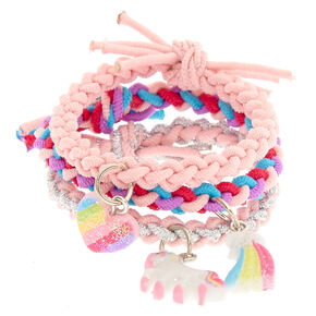 Claire's Club Braided Stretch Bracelets - 3 Pack,