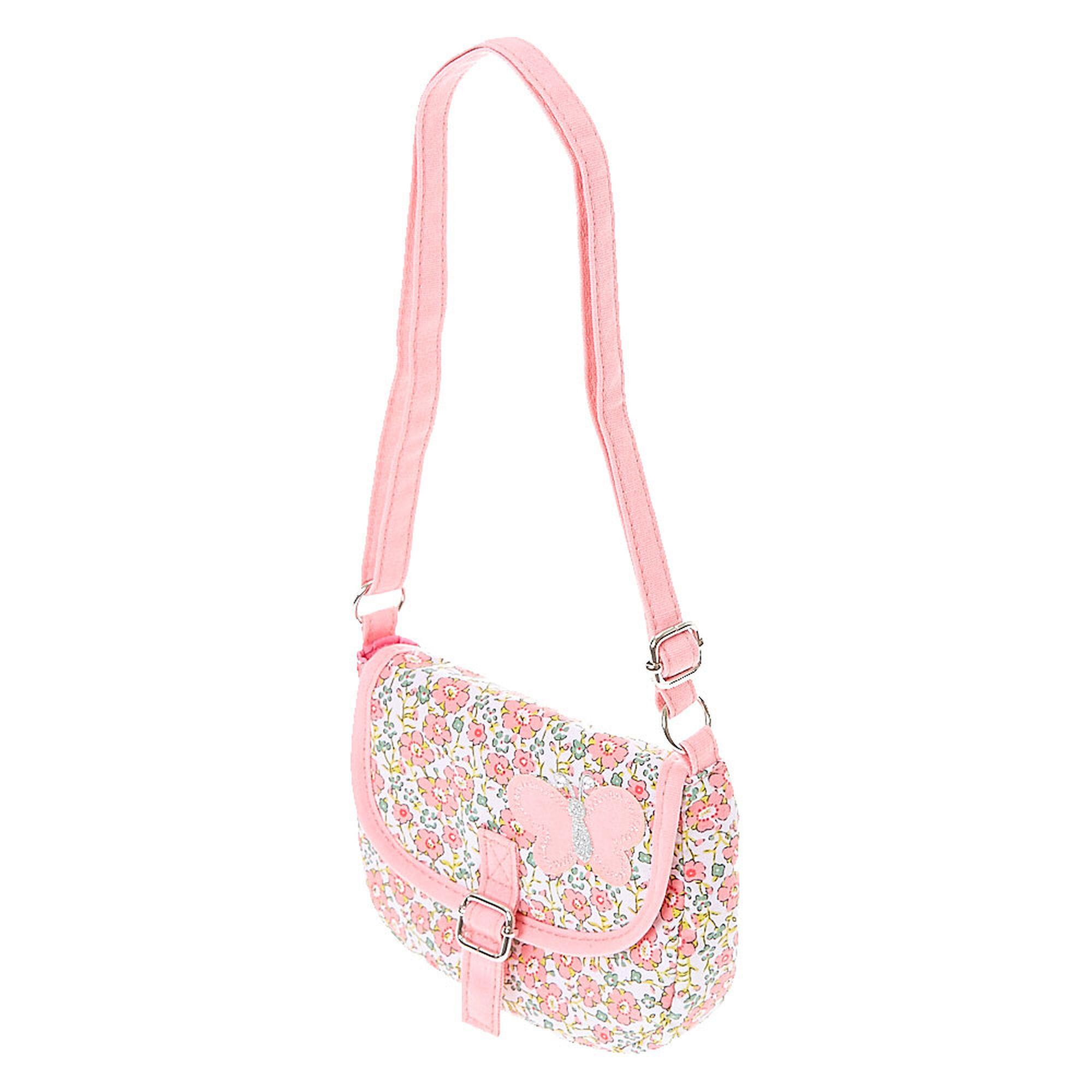 Pink Floral Crossbody Bag | Claireu0026#39;s