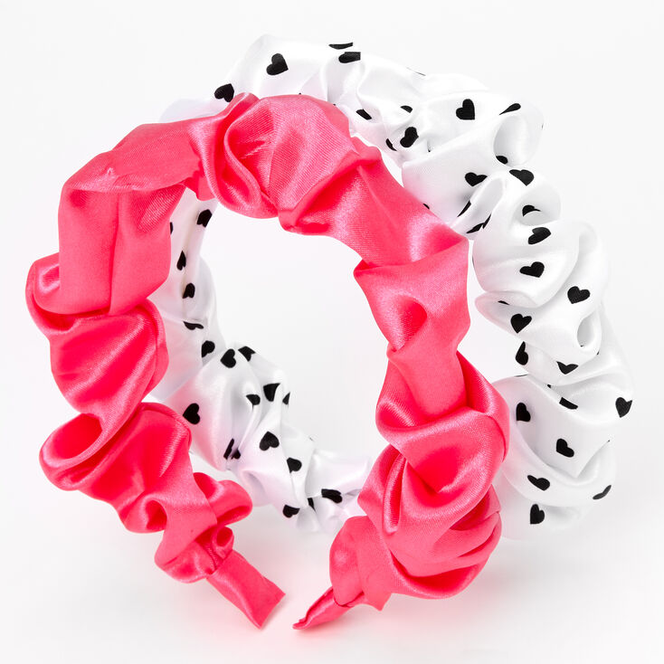 Claire's Club Ruched Satin Headbands - 2 Pack,