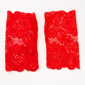 Red Lace Fingerless Gloves,