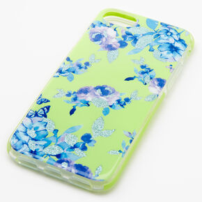 Lime Floral Phone Case - Fits iPhone 6/7/8+,
