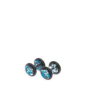 Faux Speckle Plug Earrings,