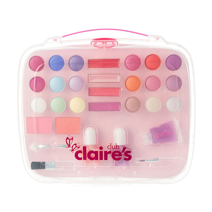 Claire's Club Lunchbox Cosmetic Set - Pink,