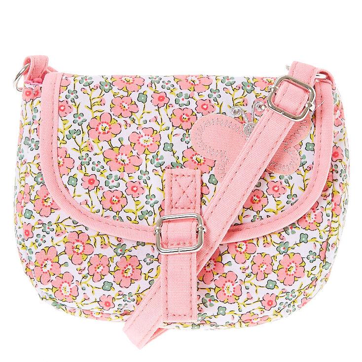 1fbfa54585b4 Claire  39 s Club Floral Crossbody Bag - Pink