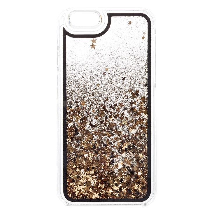 sale retailer 30ab5 fa78e Black & Gold Star Glitter Liquid Fill Phone Case