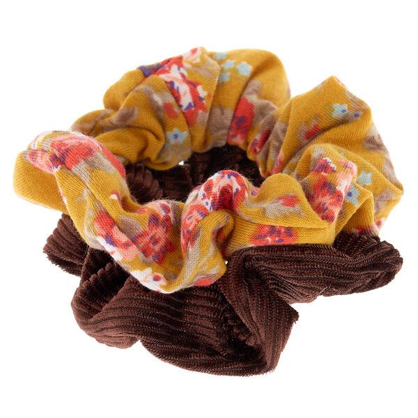 Claire's - floral velvet hair scrunchies - 2