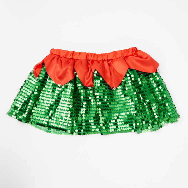 Sequin Elf Christmas Tutu - Green,