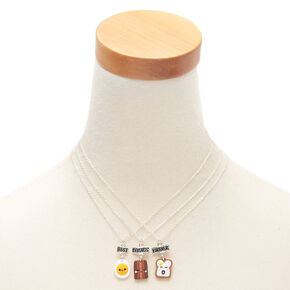 Best Friends Breakfast Pendant Necklaces - 3 Pack,