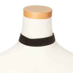 Thick Black Velvet Choker Necklace,