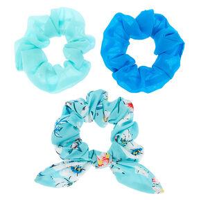 83cb2b2eccce Floral Bow Hair Scrunchies - Mint, 3 Pack