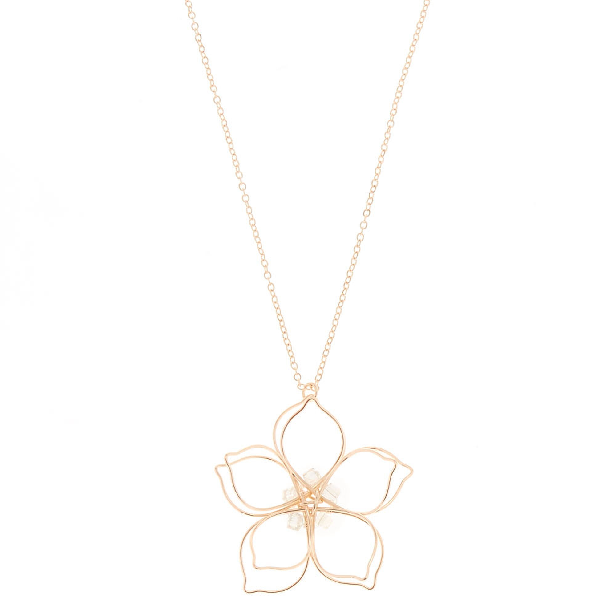 ippolita gold a necklace with stardust diamonds in pendant flower medium