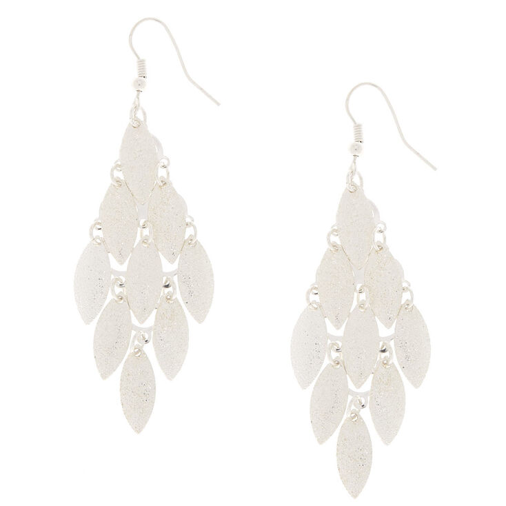 Silver-Tone Layered Drop Earrings,