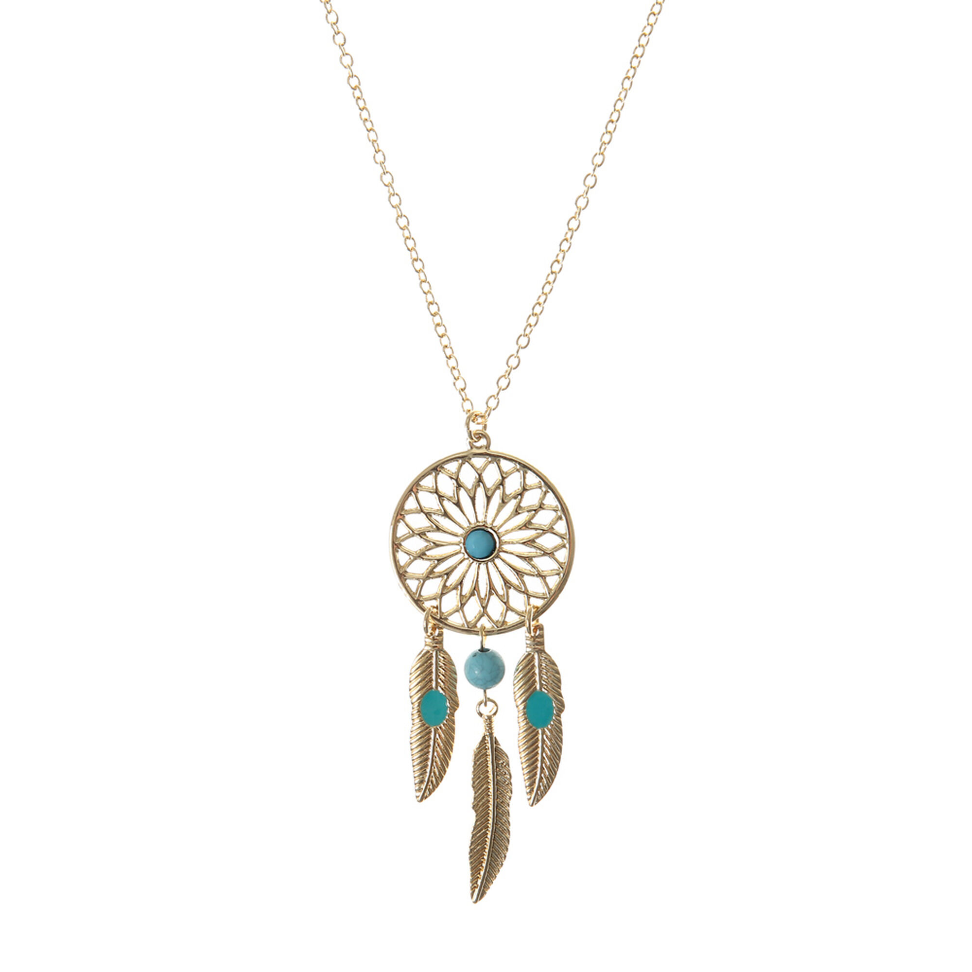 necklace charm dreamcatcher product hugerect catcher dainty dream lucky simple