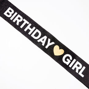 Birthday Girl Sash - Black,