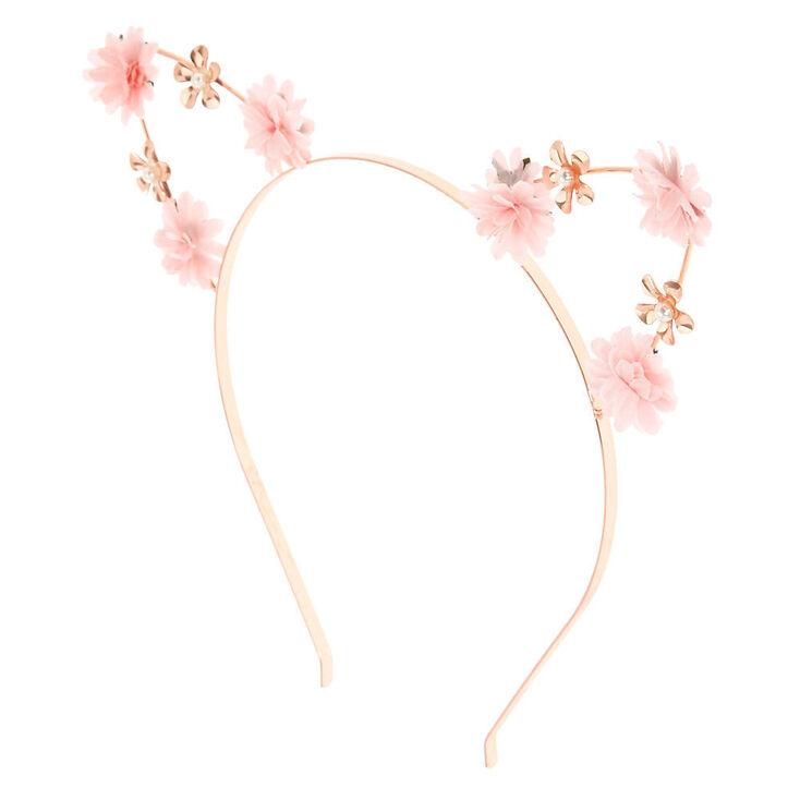 Pastel Petal Cat Ears Headband - Pink,