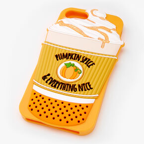 Pumpkin Spice Silicone Phone Case - Fits iPhone 6/7/8,