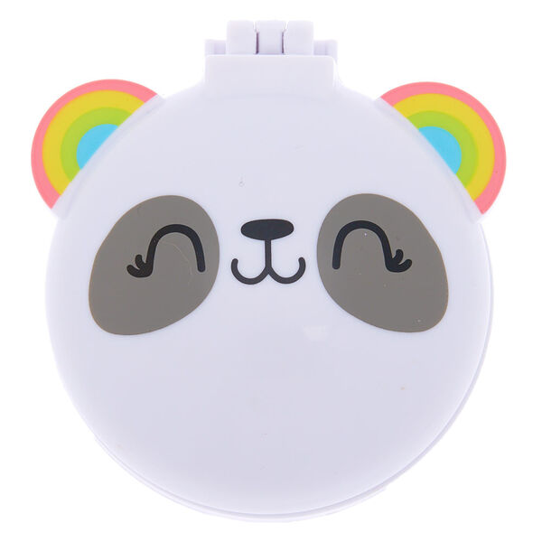 Claire's - rainbow panda pop up hair brush - 1