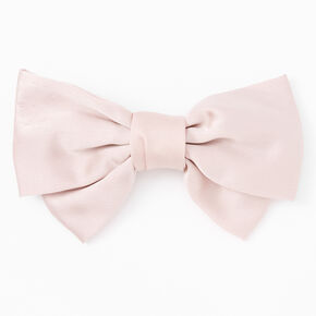 Large Hair Bow Clip - Blush Pink,