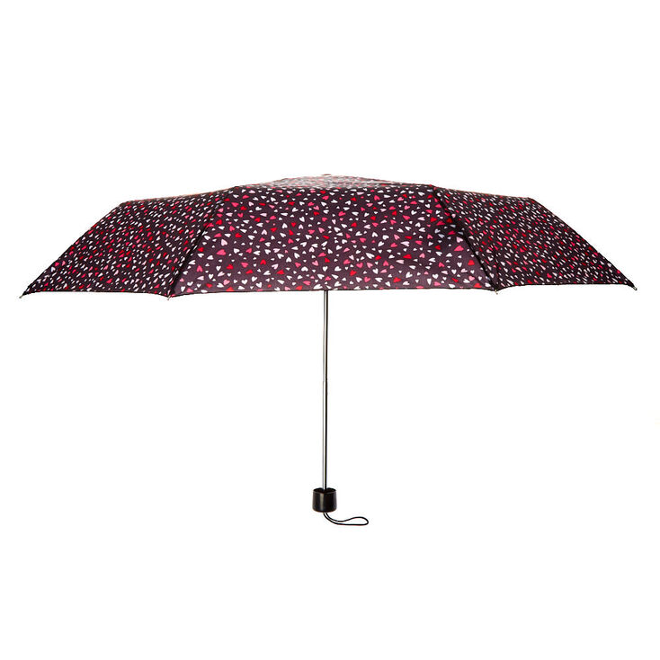Love Hearts Umbrella - Black,