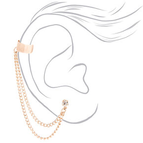 Rose Gold Connector Earrings,