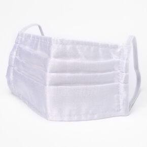 Masque en tulle plissé blanc - Taille adulte,