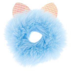 8efcf941d95d Faux Fur Holographic Ears Hair Scrunchie - Baby Blue
