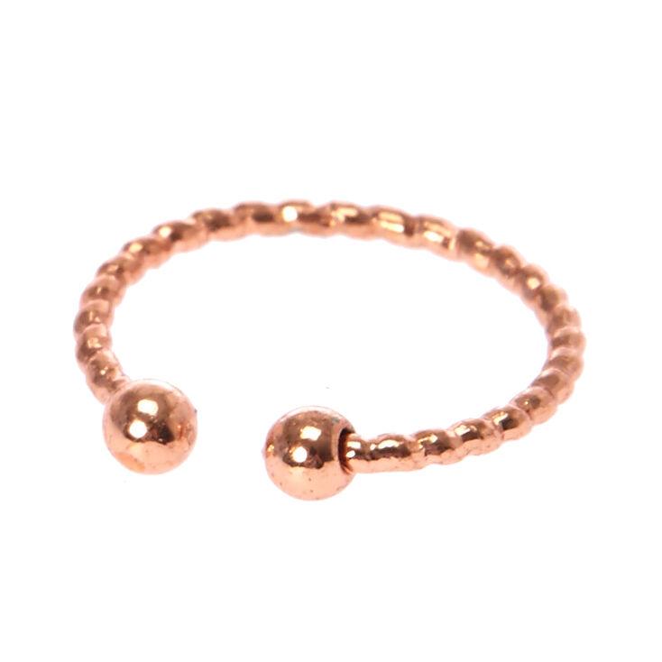qualité supérieure Meilleure vente vaste sélection Bague pour faux piercing labial rose couleur doré, taillée au laser.