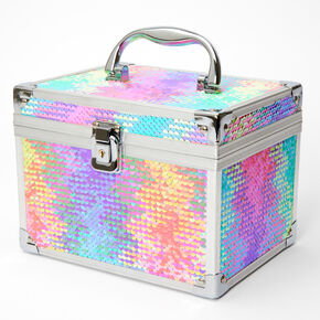 Reversible Sequin Rainbow Zig Zag Lock Box,