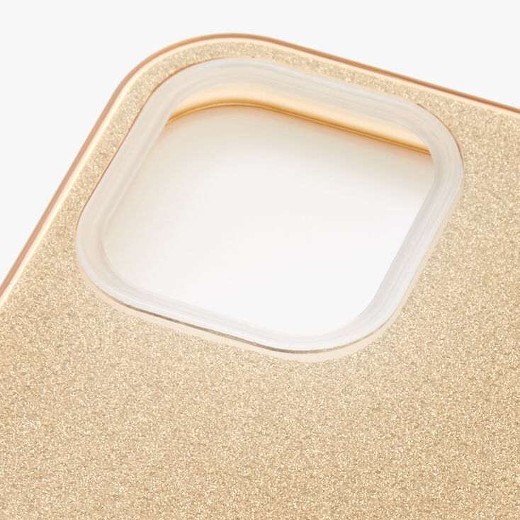 Gold Glitter Protective Phone Case - Fits iPhone 12 Pro Max,
