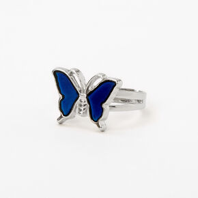 Silver Butterly Mood Ring,