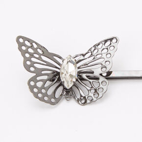 Silver Filigree Butterfly Hair Pins - 6 Pack,