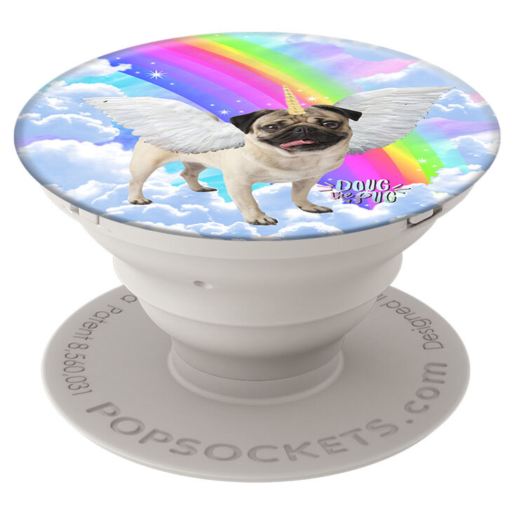 Popsockets Popgrip Doug The Pug Rainbow Unicorn Claire S Us
