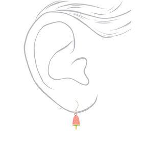 """1"""" Rainbow Glitter Popsicle Drop Earrings - 3 Pack,"""