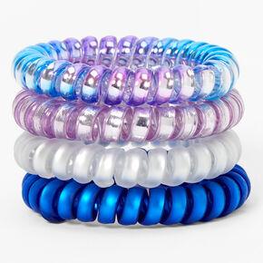 Élastiques spirales avec dégradé de couleurs brillantes - Lot de 4,