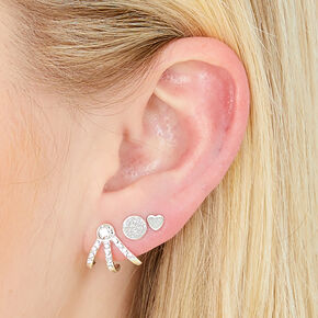 Silver Mixed Metal Ear Party Set,