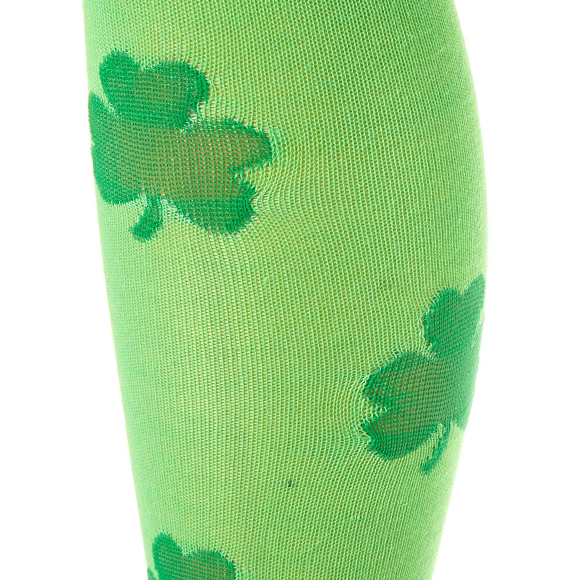 5724df2b50a ... Neon Shamrock Knee High Socks - Green