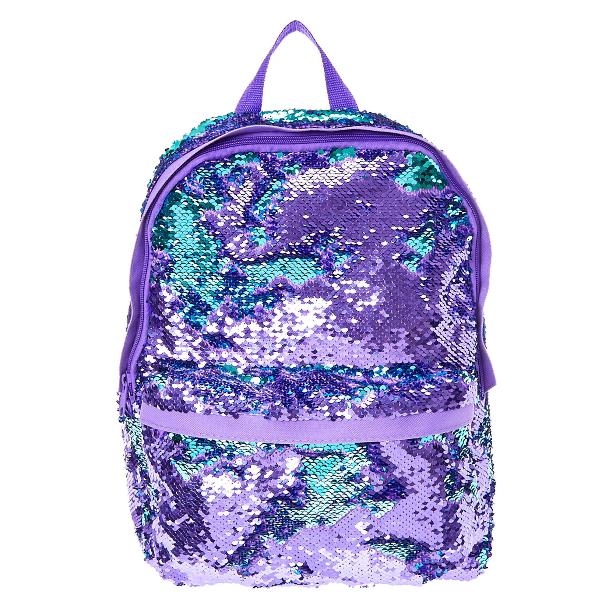 Reversible Purple To Turquoise Sequin Backpack Claire S Us