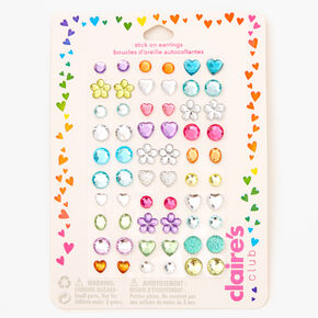 Claire's Club Stick On Earrings Bundle - 3 Pack,