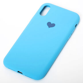 Cobalt Heart Phone Case - Fits iPhone XR,