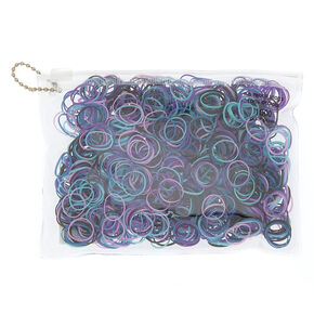 Space Galaxy Mini Hair Ties - Purple, 1000 Pack,