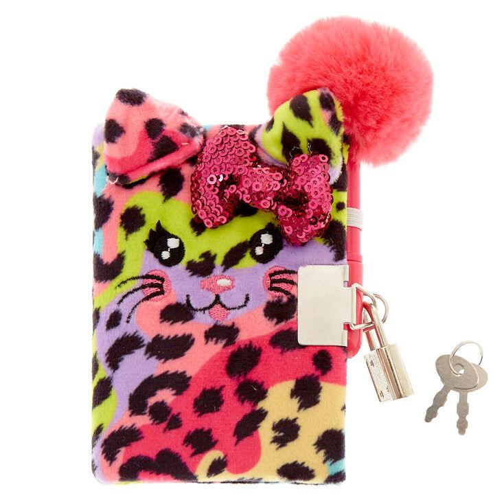 Claire S Club Rainbow Cat Lock Plush Diary Claire S Us