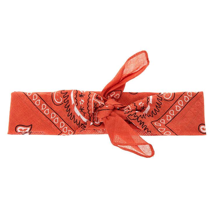 Bandeau bandana motif cachemire - Rouille,