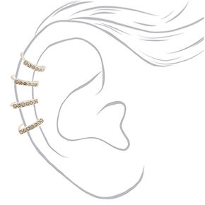 "Silver 1.5"" Crystal Ear Cuff,"