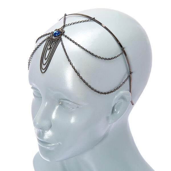 Claire's - hematite eye stone headband - 2