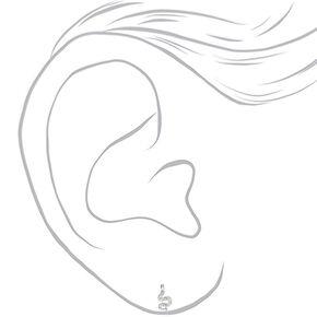 Clous d'oreilles serpents décorés en argent,