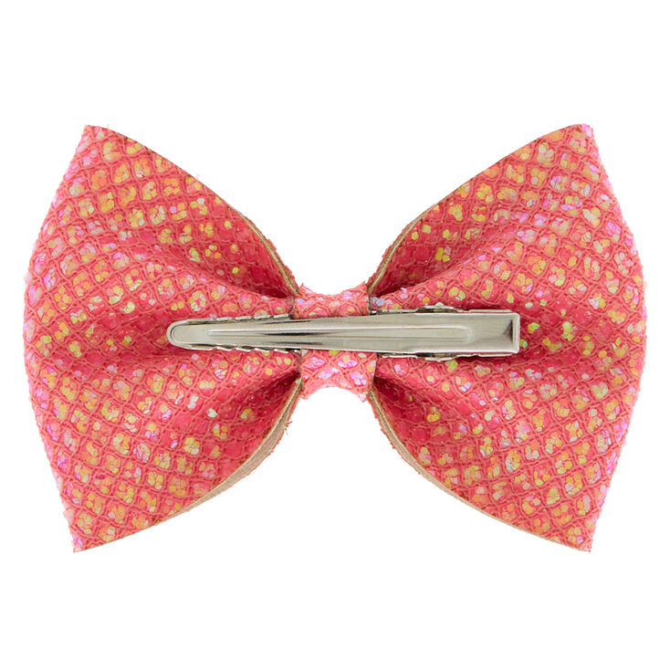 Pink Coral Sequin Bow
