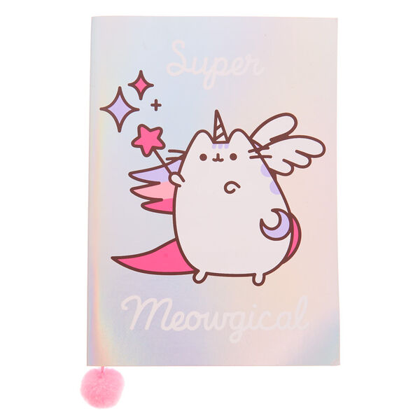 Claire's - pusheen holographic super pusheenicorn notebook - 1